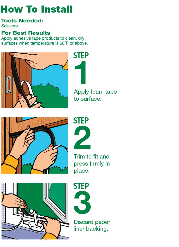 Foam Seal Weatherstripping Instructions