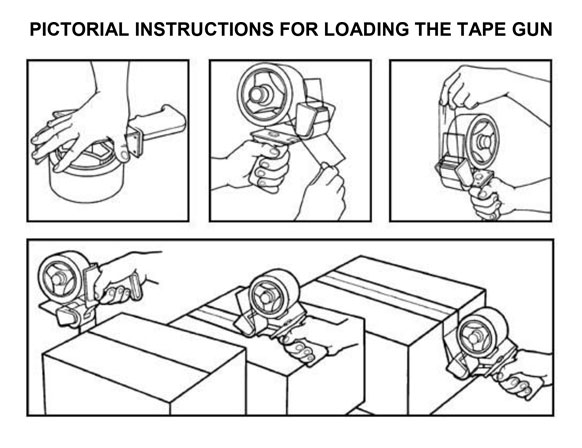Tape Gun Instructions