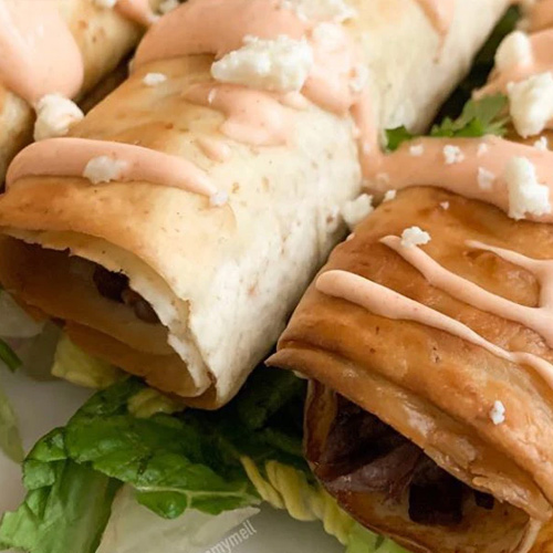 Low Carb Beef Taquitos