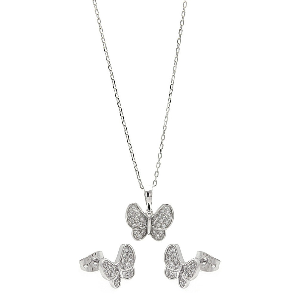 Flutter Necklace and Earring Set