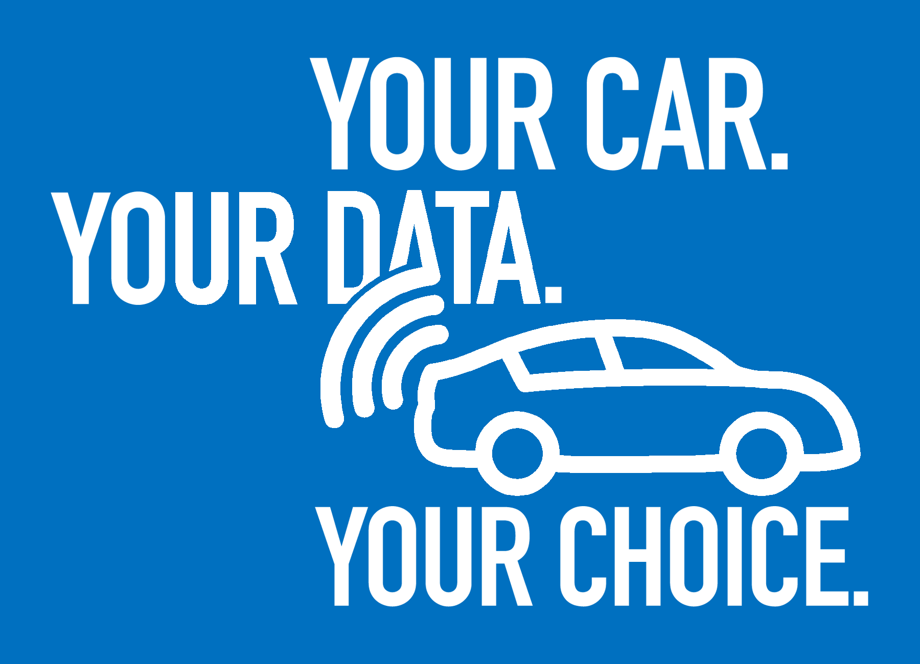 Your Car Your Data stacked blue