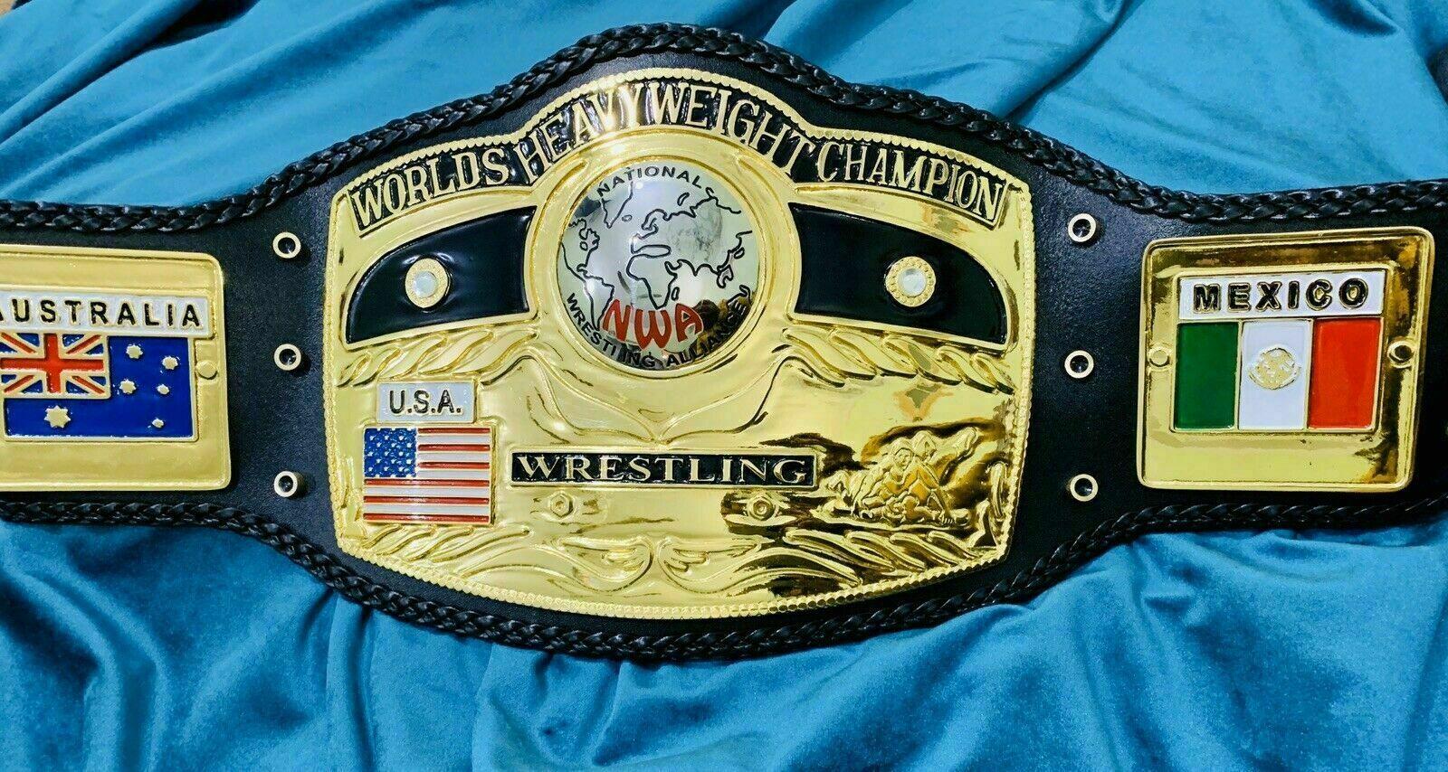 NWA Domed Globe (10 Pounds of Gold) World Heavyweight Championship Belt- - $335