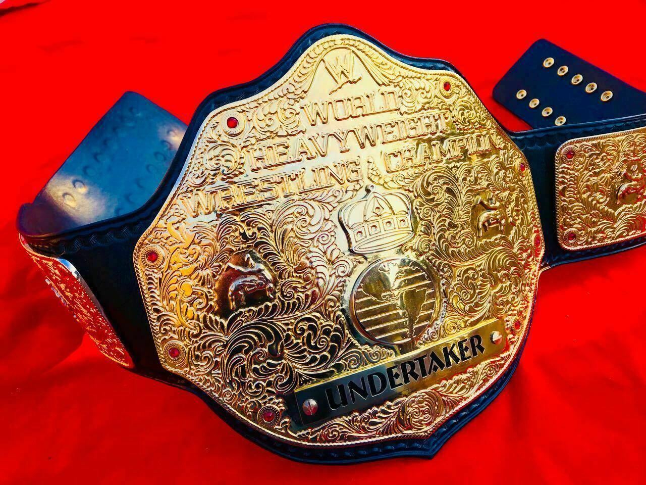 WWE Big Gold World Heavyweight Championship Belt - $325