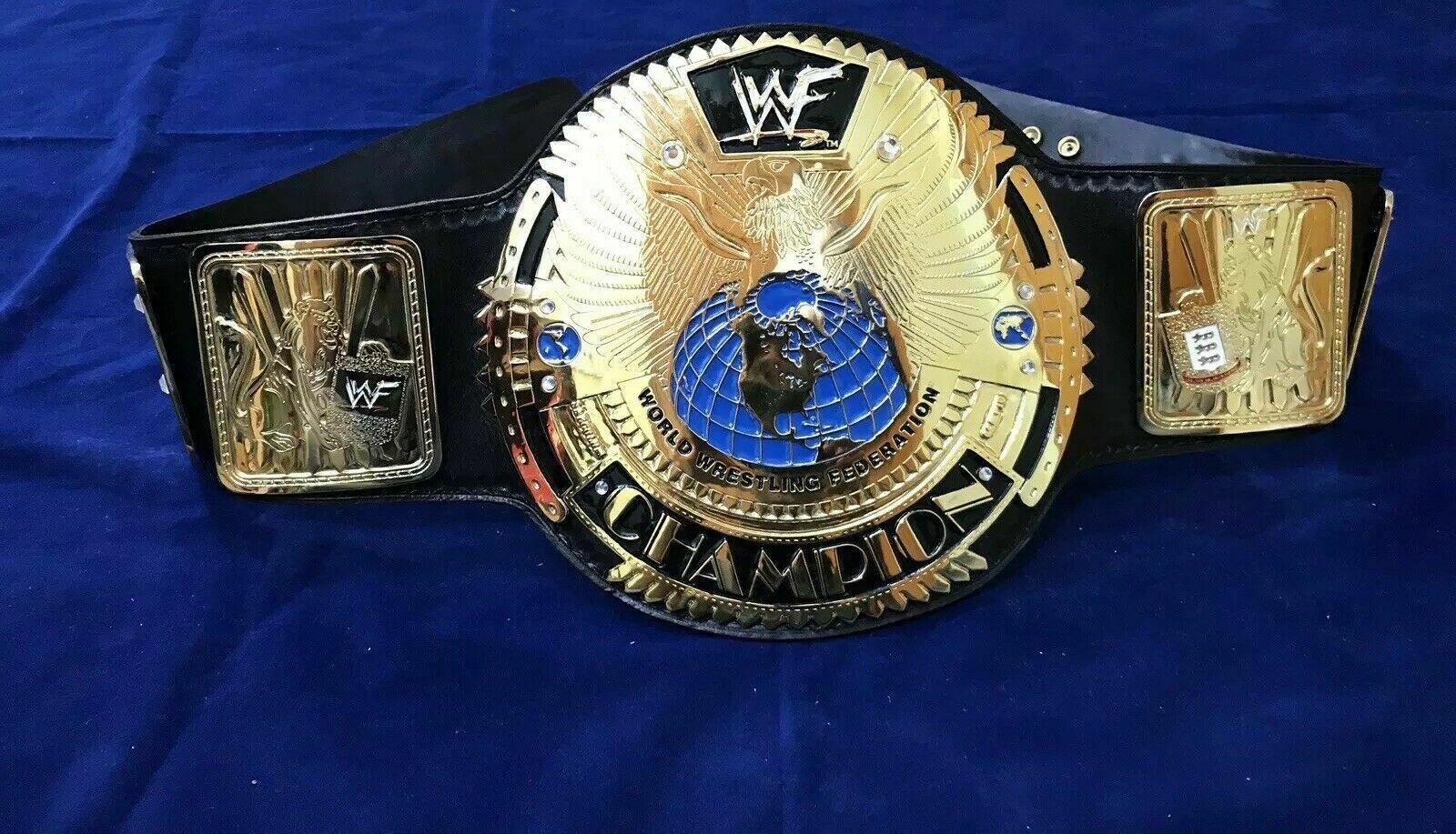 WWF Big Eagle World Heavyweight Championship Belt (Scratch Logo) - $340