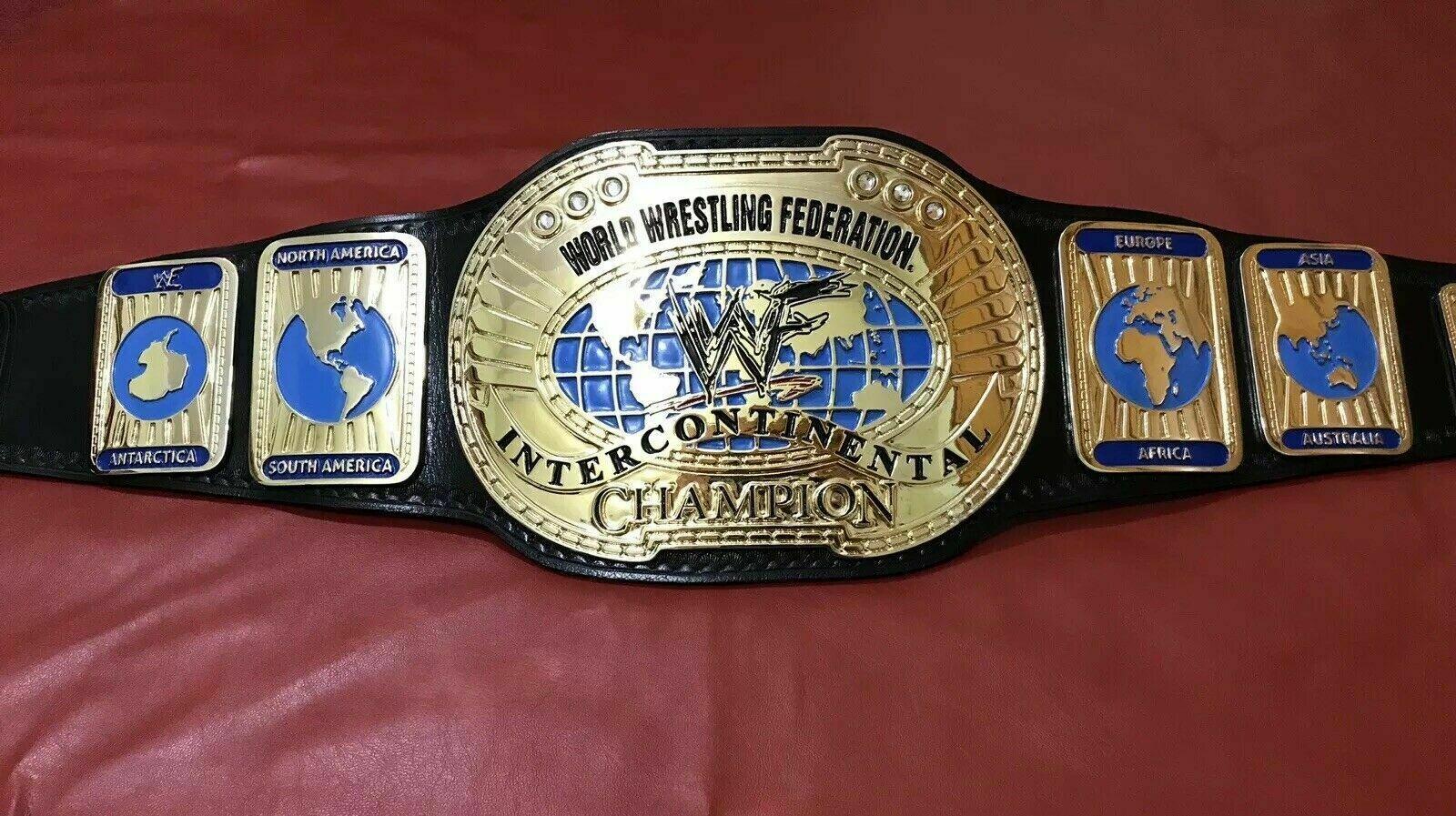 WWF (Oval) Intercontinental Championship Belt (Scratch Logo) - $325