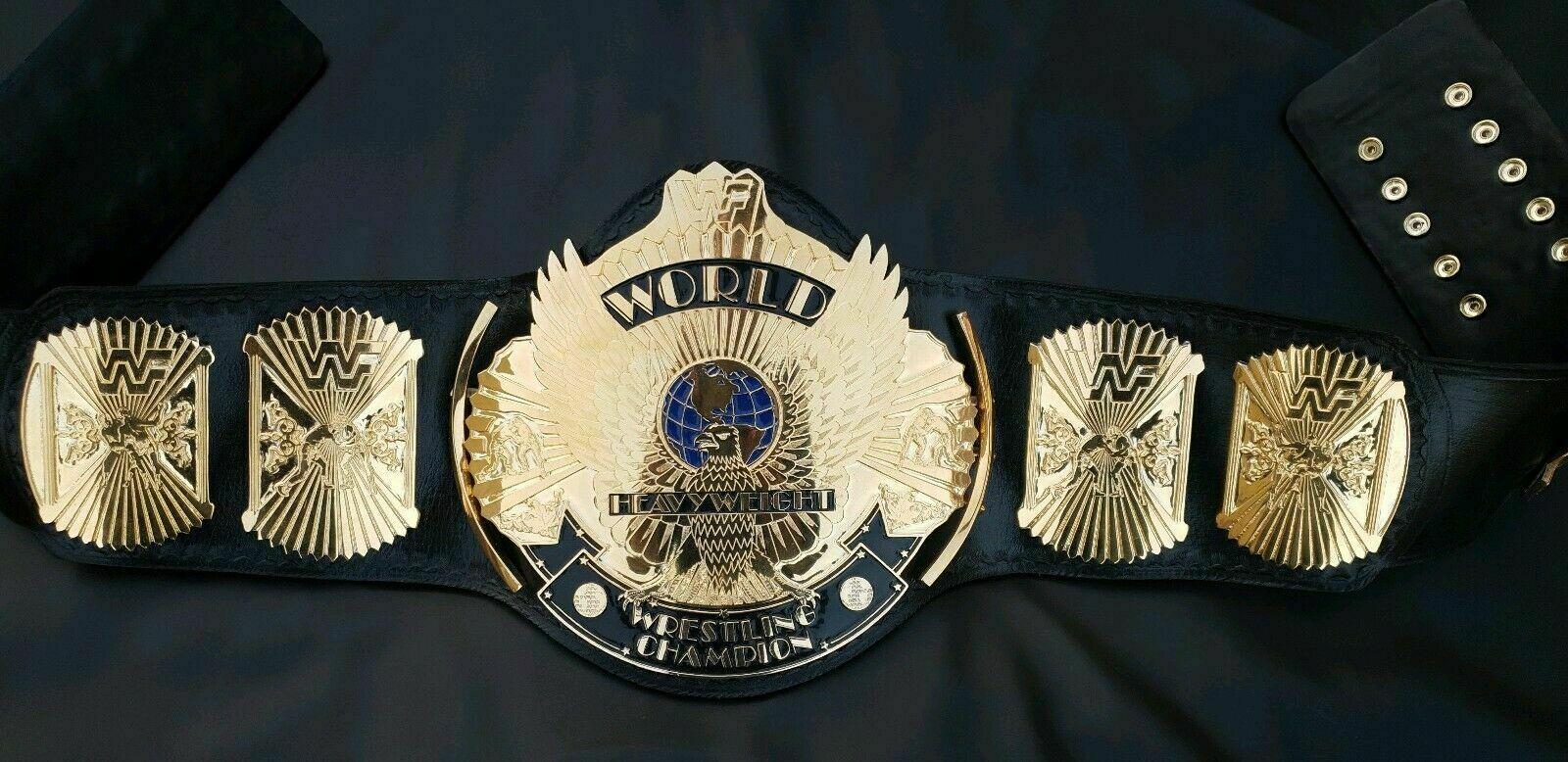 WWF Logo Winged Eagle Heavyweight Championship Belt - $325