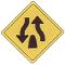 divided highway ends road sign