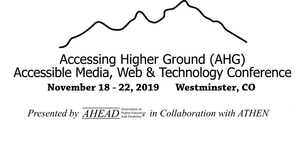 Accessing Higher Ground 2019 Logo