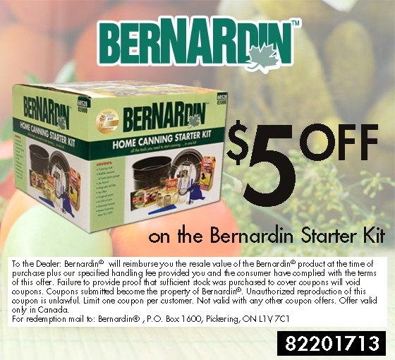 Coupon of $5 Off Bernardin Home Canning Kit